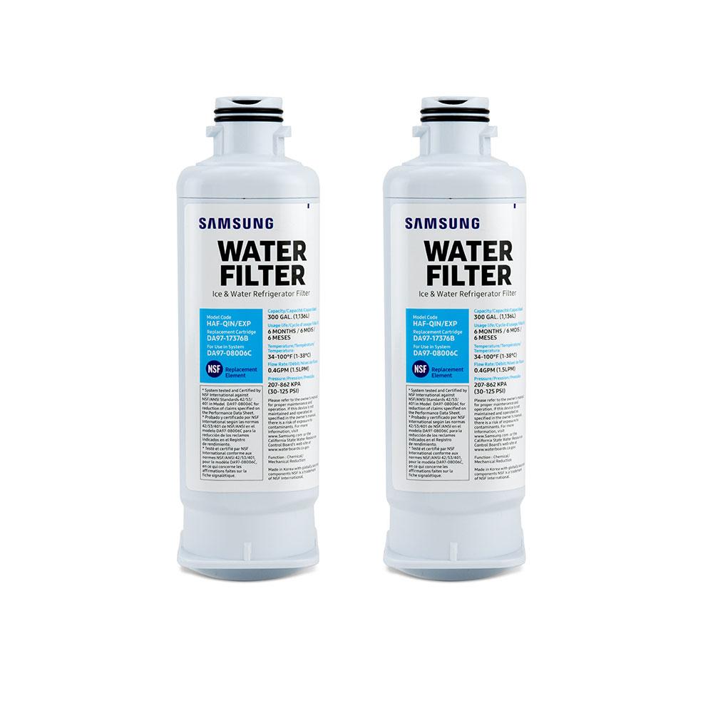 Samsung Refrigerator Water Filter HAF-QIN/EXP (DA97-17376B), 2-Pack