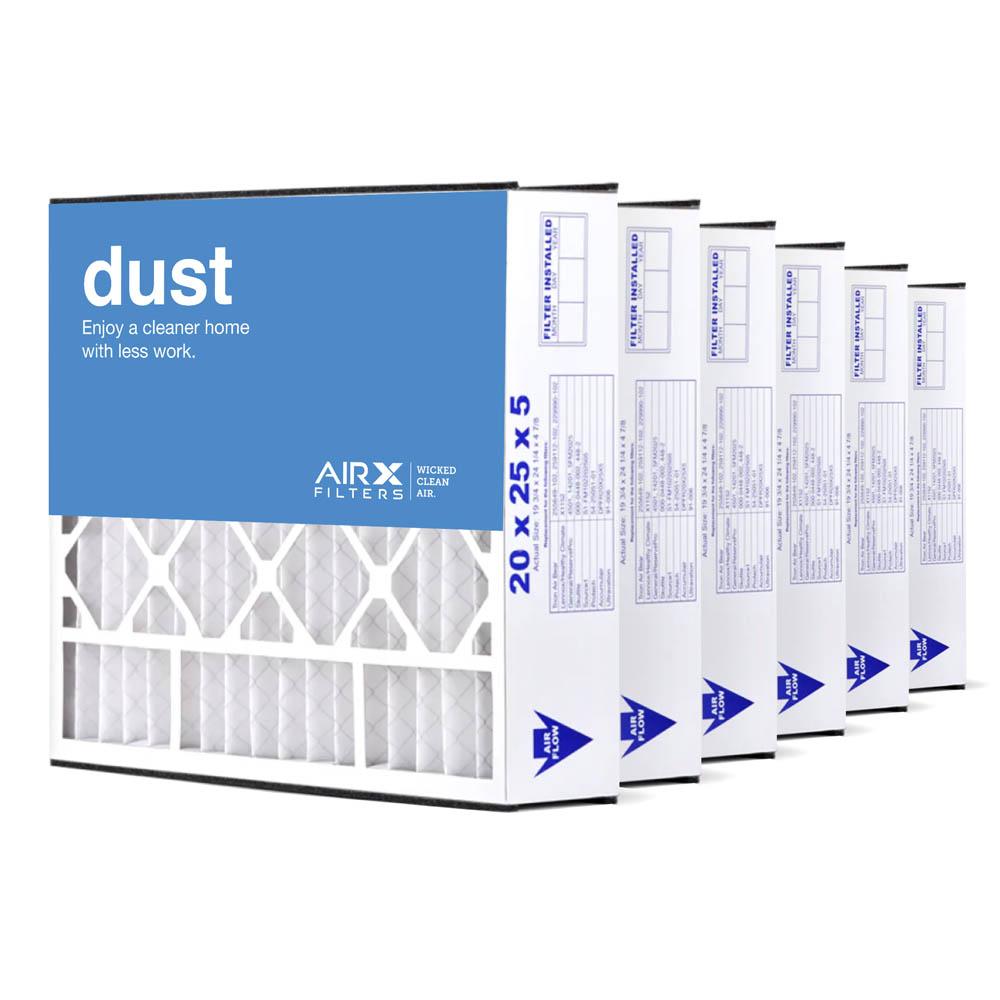 20x25x5 AIRx DUST Air Bear 255649-102 Replacement Air Filter - MERV 8, 3-Pack