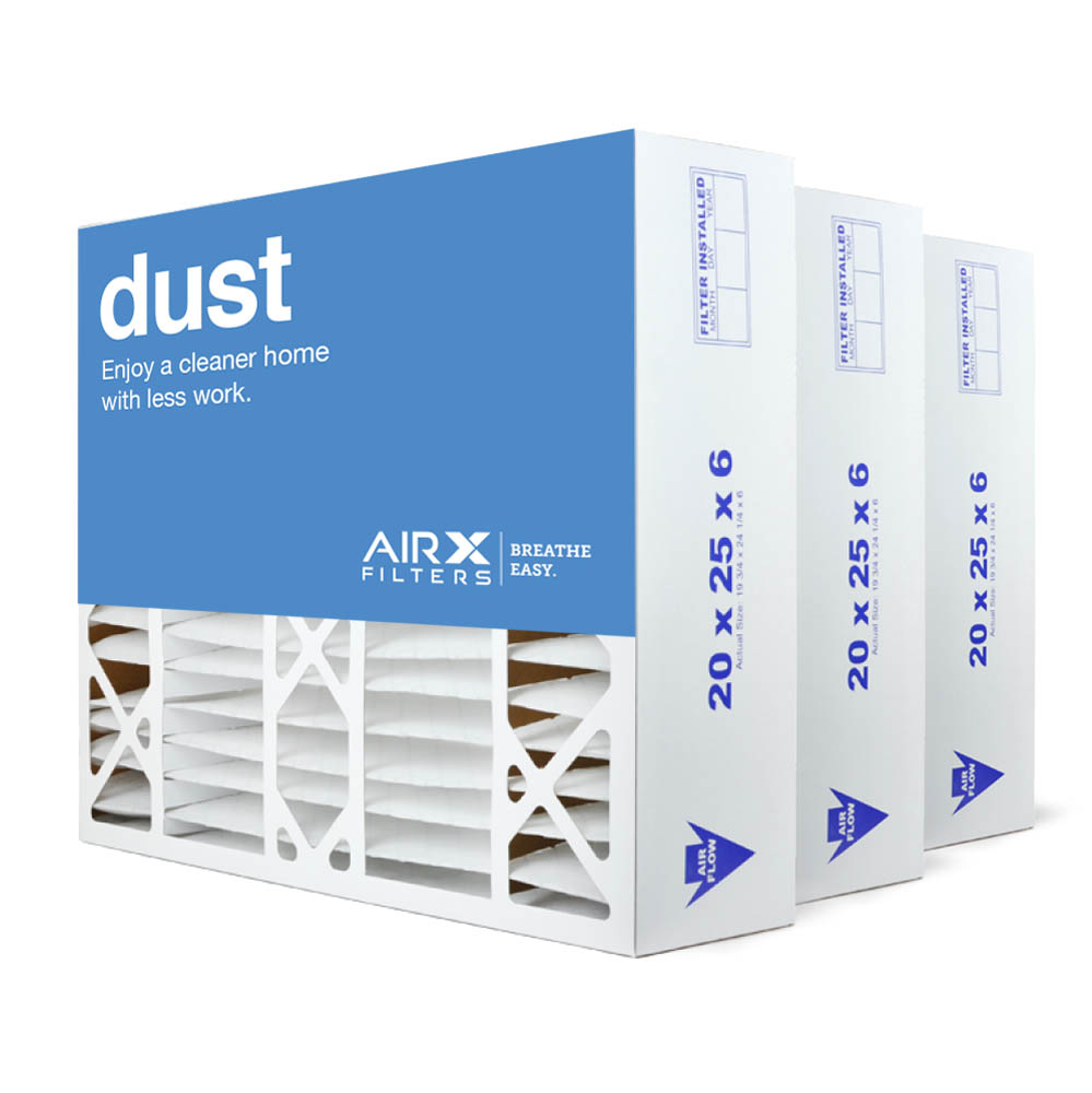 20x25x6 AIRx DUST Aprilaire 201 Replacement Air Filter - MERV 8, 2 pack