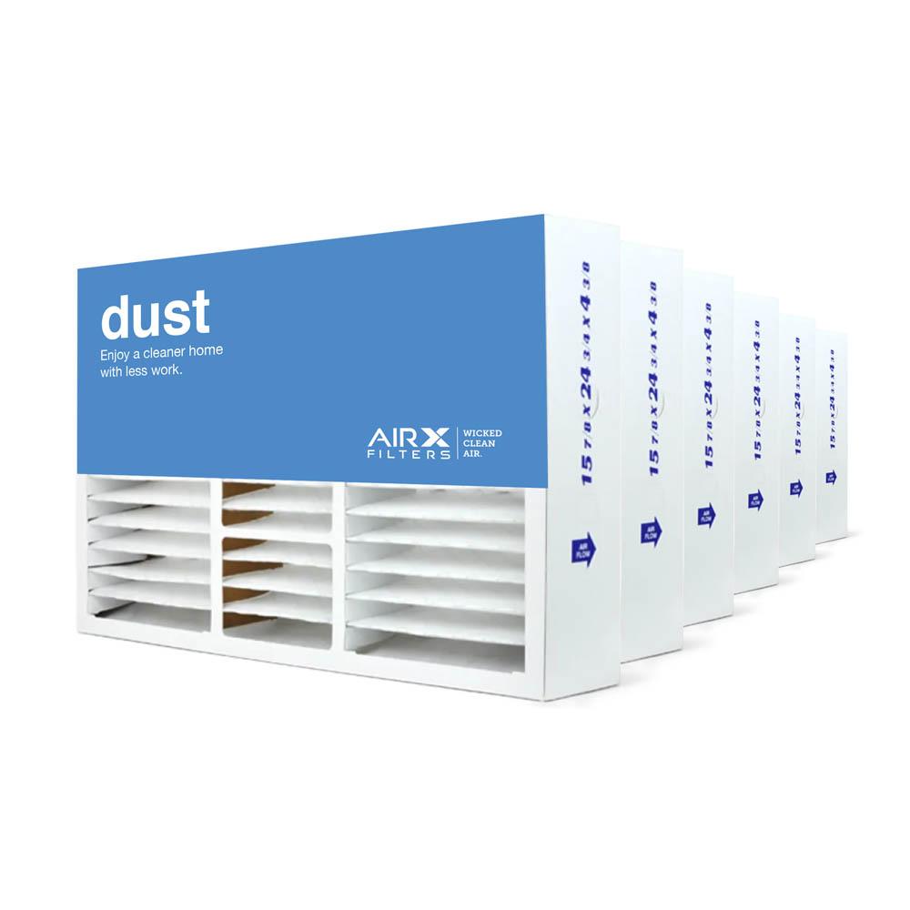 16x25x5 AIRx DUST Honeywell FC100A1029 Replacement Air Filter - MERV 8, 6 pack