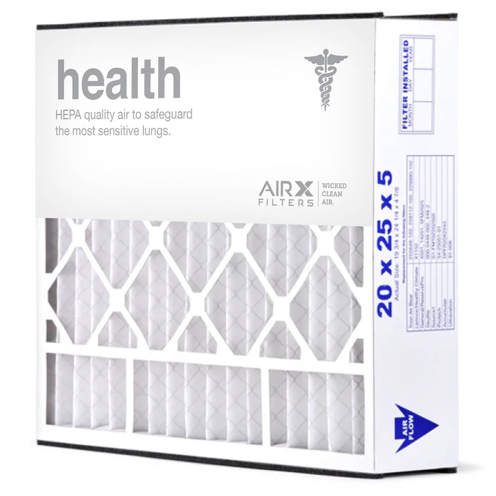 20x25x5 AIRx HEALTH Air Bear 255649-102 Replacement Air Filter - MERV 13, 2 pack