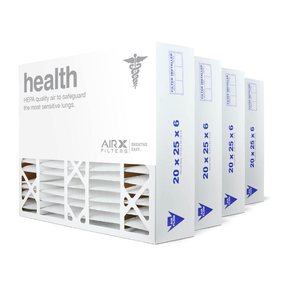 20x25x6 AIRx HEALTH Aprilaire 201 Replacement Air Filter - MERV 13, 4 pack