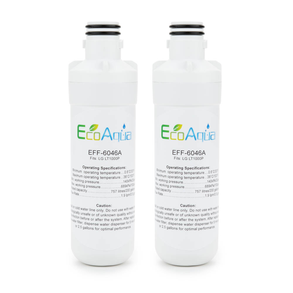 Replacement for LG MDJ64844601 / LT1000P Refrigerator Filter, 2-Pack