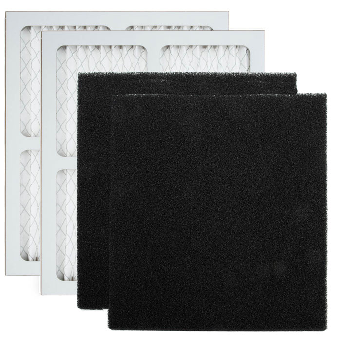 AIRx Replacement Filter Pre-Filter and Carbon Filter for Fantech DM3000P/CM3000, 2-Pack