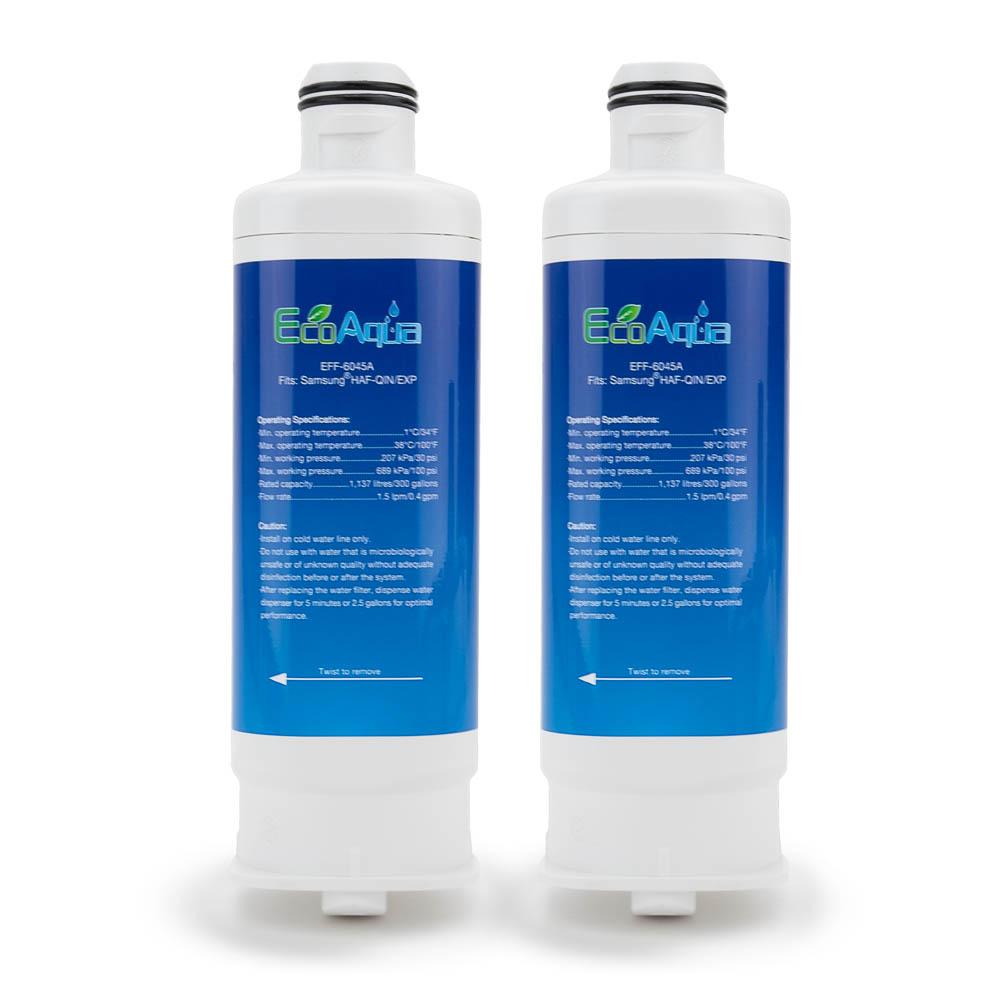 EcoAqua Replacement for Samsung HAF-QIN/EXP (DA97-17376B), 3-Pack