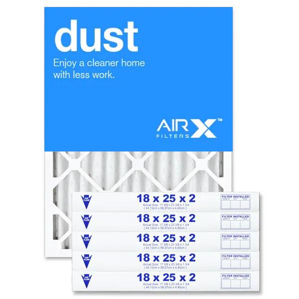 18x25x2 AIRx DUST Air Filter - MERV 8