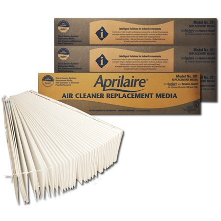 Original Aprilaire #201 Filter For 2200 Air Cleaner, 4-Pack
