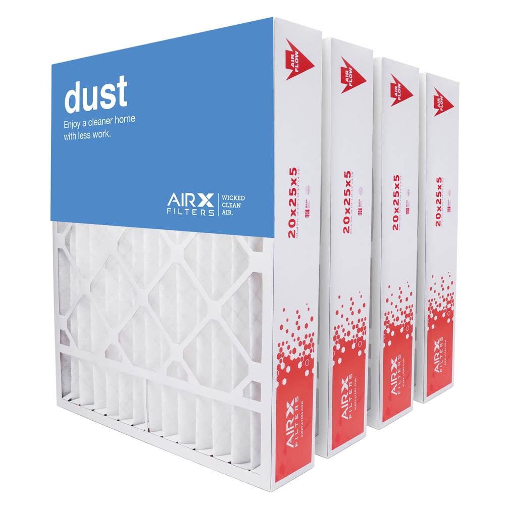 20x25x5 AIRx DUST Honeywell FC100A1037 Replacement Air Filter - MERV 8, 3 pack