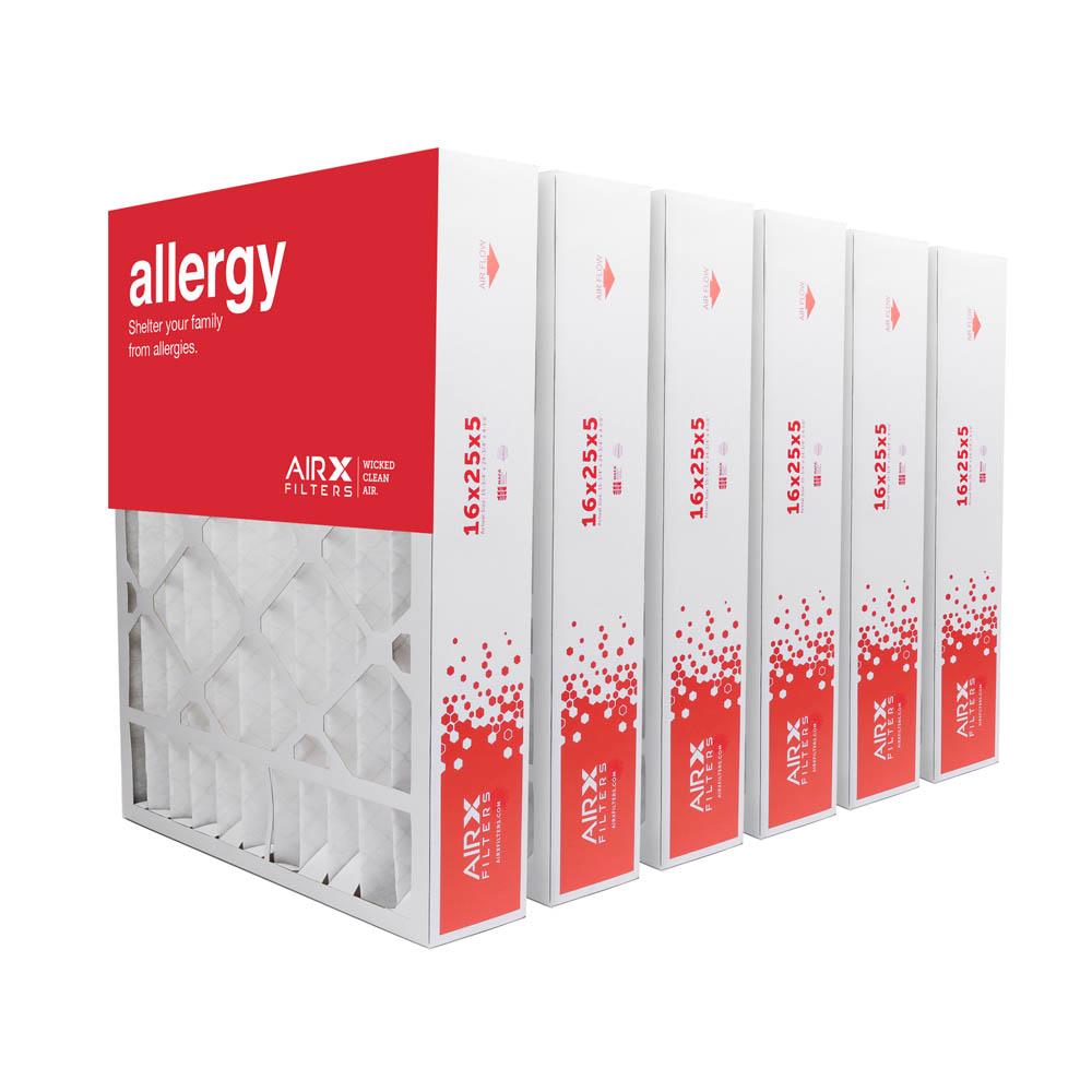 16x25x5 AIRx ALLERGY Honeywell FC100A1029 Replacement Air Filter - MERV 11, 2 pack
