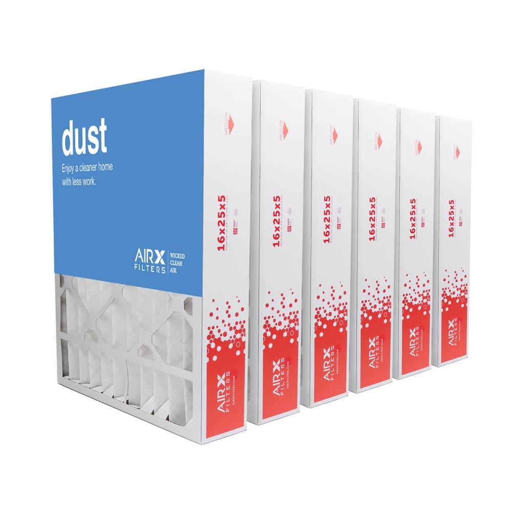 16x25x5 AIRx DUST Honeywell FC100A1029 Replacement Air Filter - MERV 8