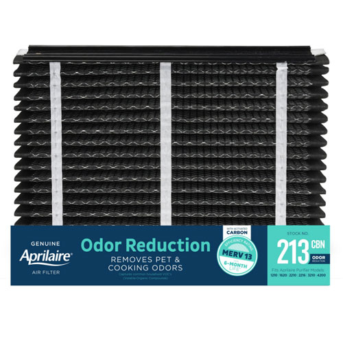Aprilaire #213 CBN MERV 13 Odor Reduction Replacement Filter, 2-Pack