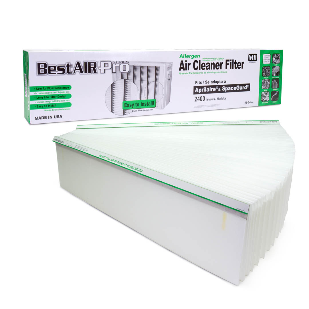 BestAirPro Replacement for Aprilaire # 401 Filter, 4-Pack