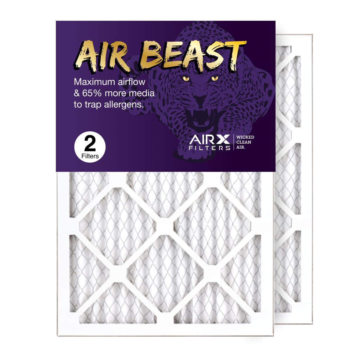 14x20x1 AIRx Air Beast High Flow Air Filter, 2-Pack
