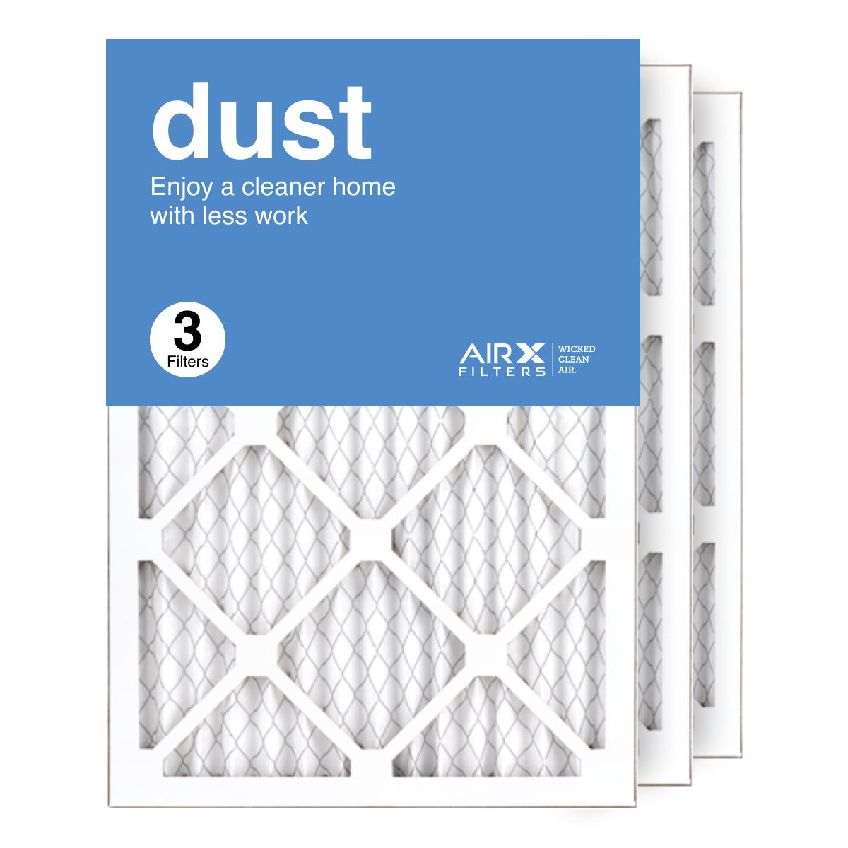 14x20x1 AIRx DUST Air Filter, 3-Pack