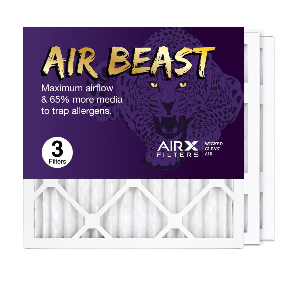 16x16x1 AIRx Air Beast High Flow Air Filter, 3-Pack
