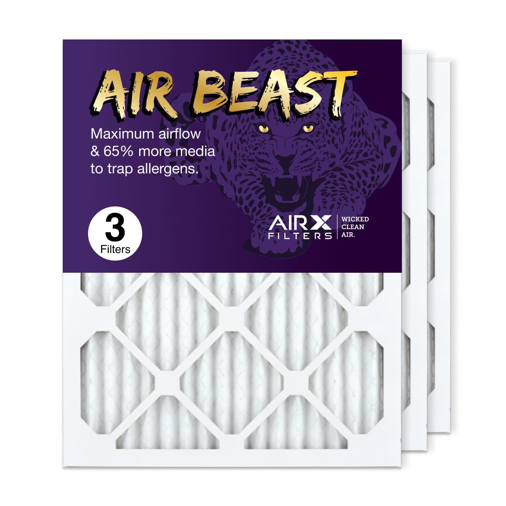 16x20x1 AIRx Air Beast High Flow Air Filter, 3-Pack