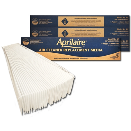Original Aprilaire #401 Filter For 2400 Air Cleaner, 2-Pack