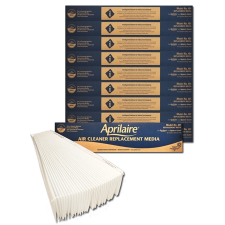 Original Aprilaire #401 Filter For 2400 Air Cleaner, 10-Pack