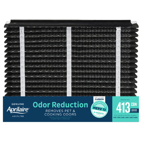 Aprilaire #413CBN MERV 13 Odor Reduction Replacement Filter, 2-Pack