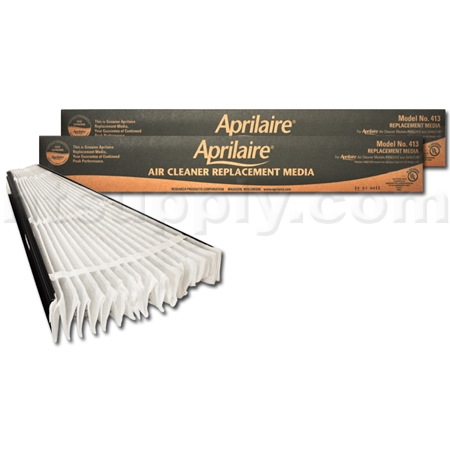 Aprilaire 413 Filter Replacement Media for Aprilaire 4400 Air Cleaner, 2-Pack