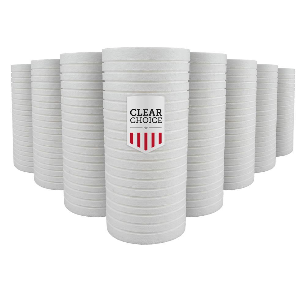 ClearChoice Replacement for Pentek DGD-2501 Dual Gradient Sediment Filter - 1 Micron, 4-pack