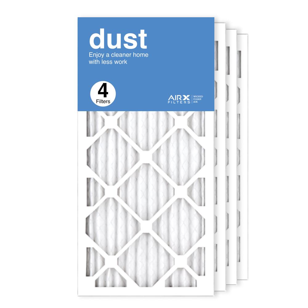 12x25x1 AIRx DUST Air Filter, 4-Pack