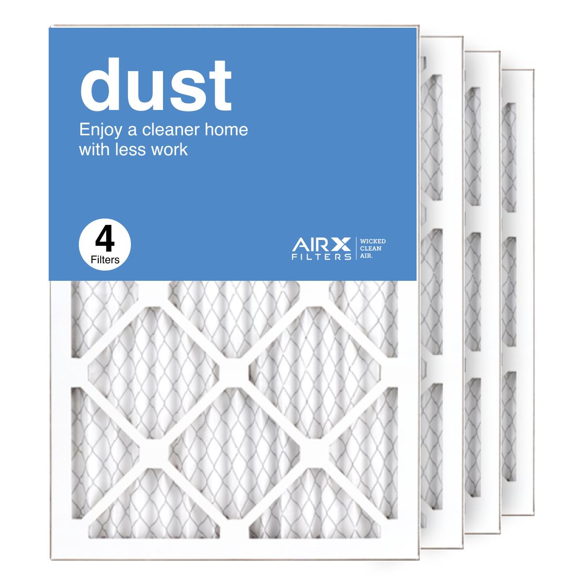 14x20x1 AIRx DUST Air Filter, 4-Pack