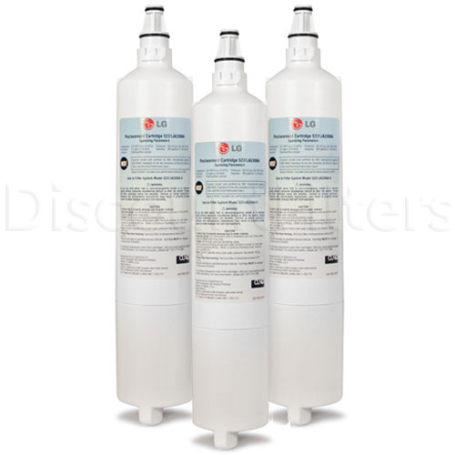 LG Refrigerator Water Filter (5231JA2006A), 3-Pack