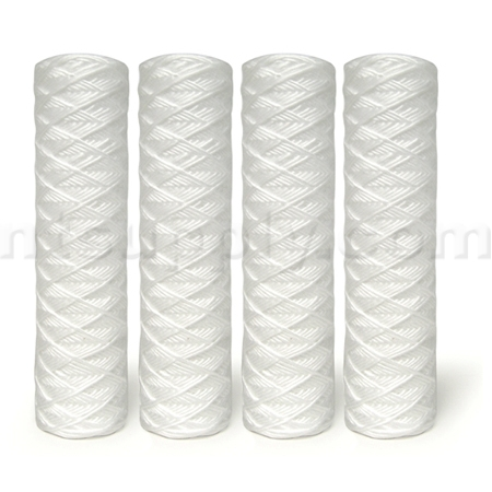"10"" 5-Micron String Wound Sediment Filter (4-Pack)"