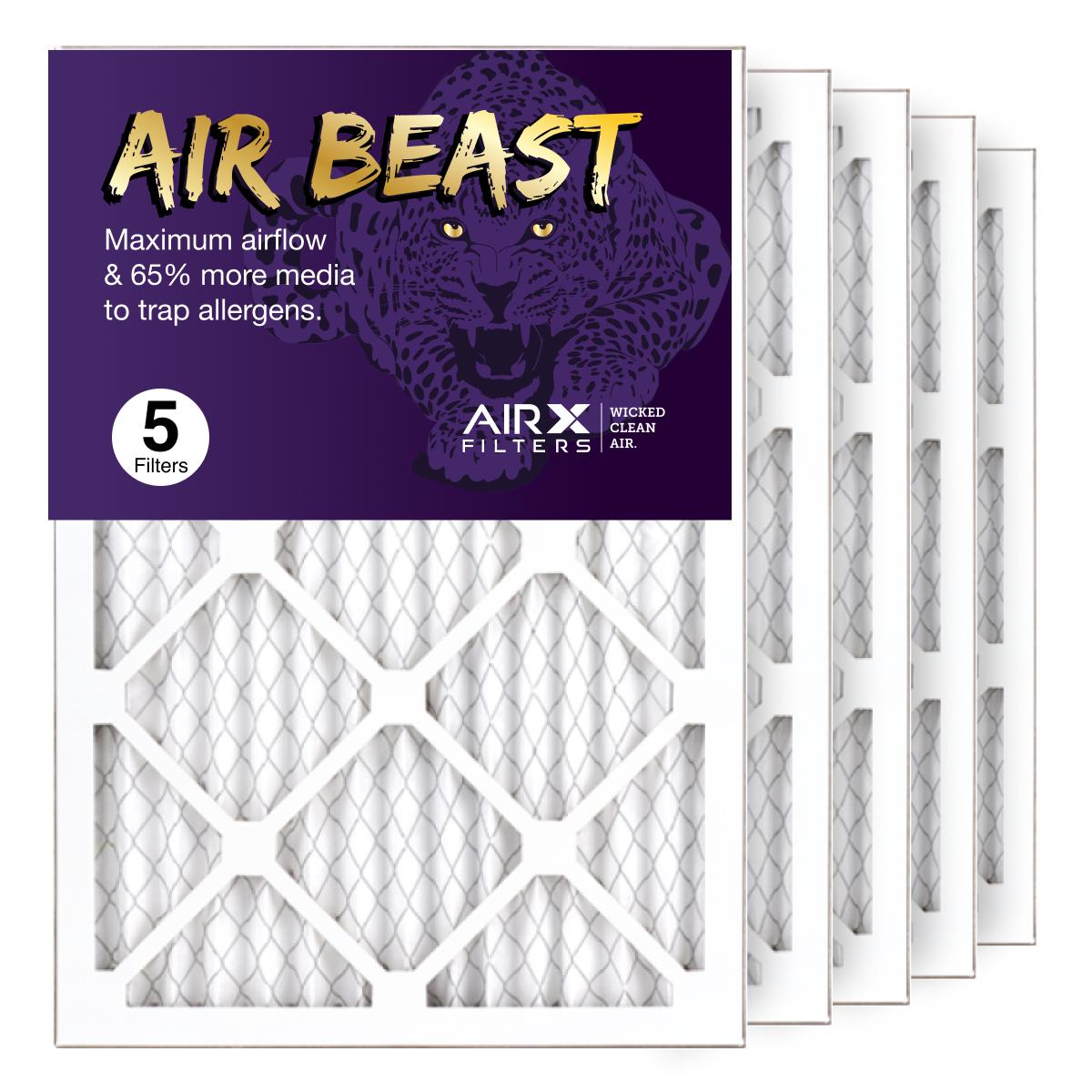 14x20x1 AIRx Air Beast High Flow Air Filter, 5-Pack