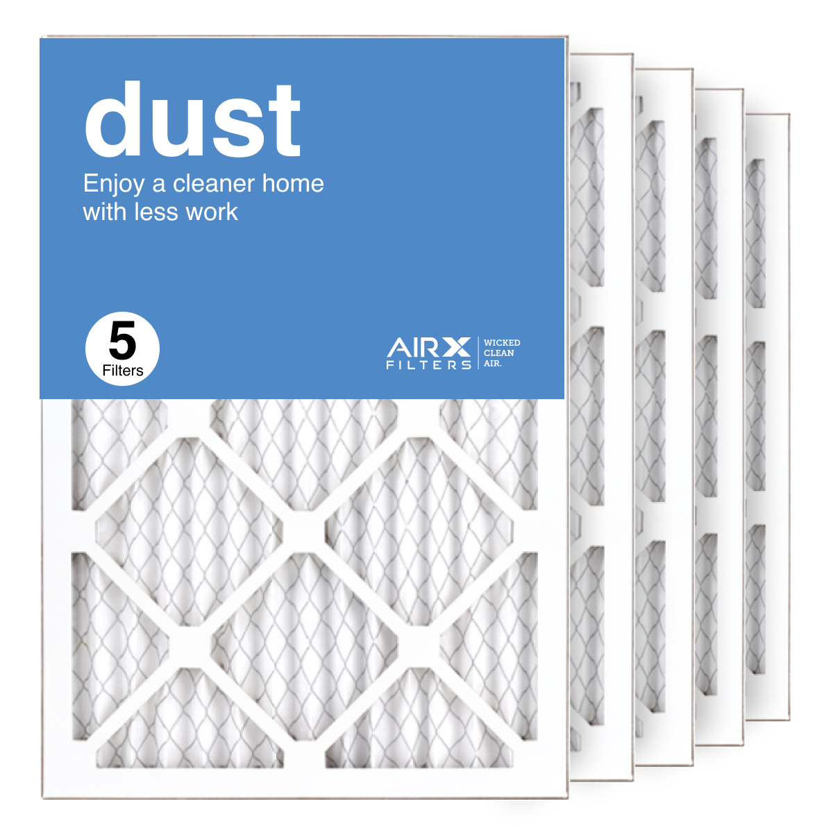 14x20x1 AIRx DUST Air Filter, 5-Pack
