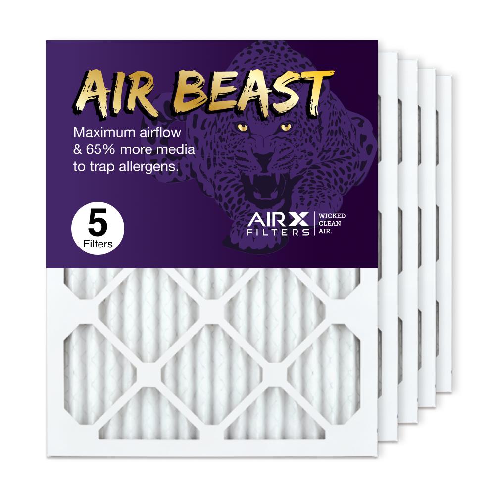 16x20x1 AIRx Air Beast High Flow Air Filter, 5-Pack