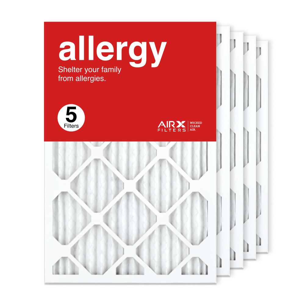 16x25x1 AIRx ALLERGY Air Filter, 5-Pack