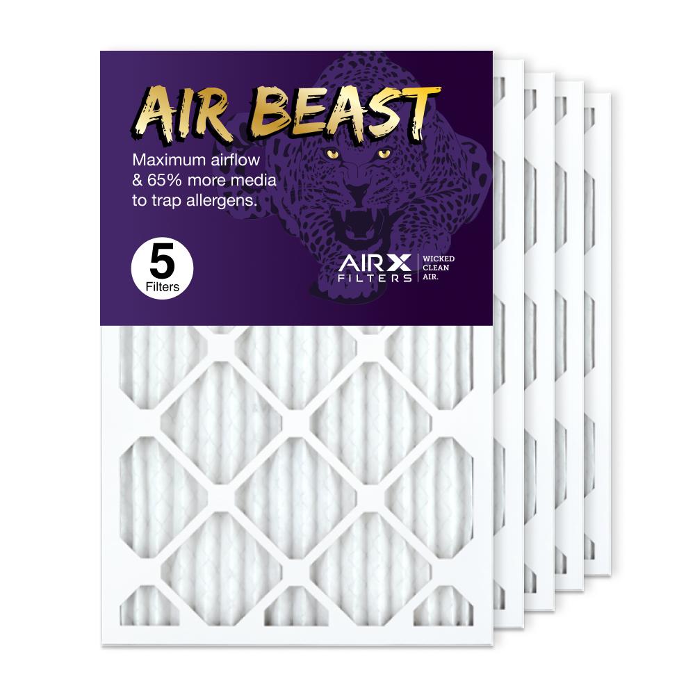 16x25x1 AIRx Air Beast High Flow Air Filter, 5-Pack