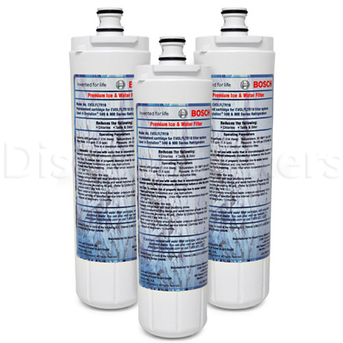 Water Sentinel Replacement Filter for Bosch 640565 Refrigerator Filter (3-Pack)