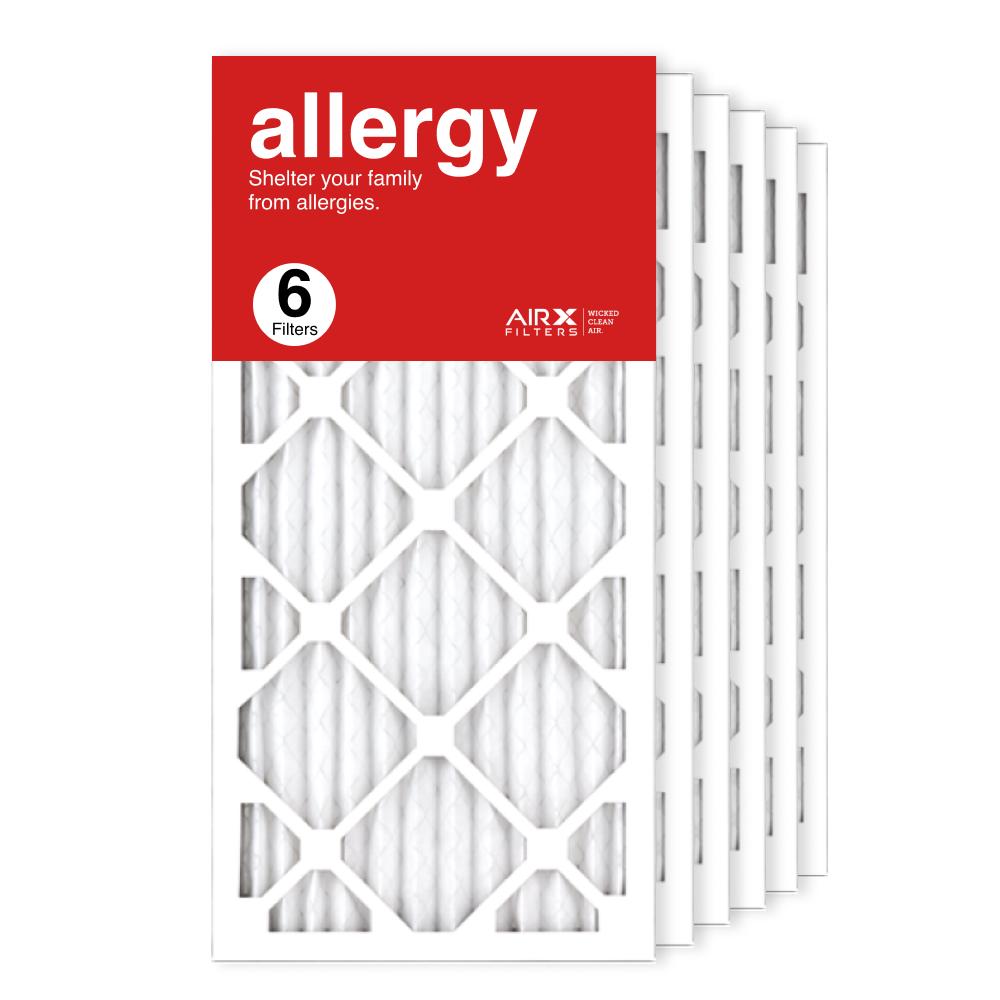12x25x1 AIRx ALLERGY Air Filter, 6-Pack