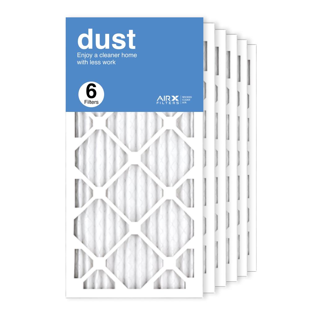 12x25x1 AIRx DUST Air Filter, 6-Pack