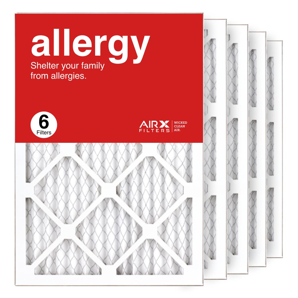 14x20x1 AIRx ALLERGY Air Filter, 6-Pack