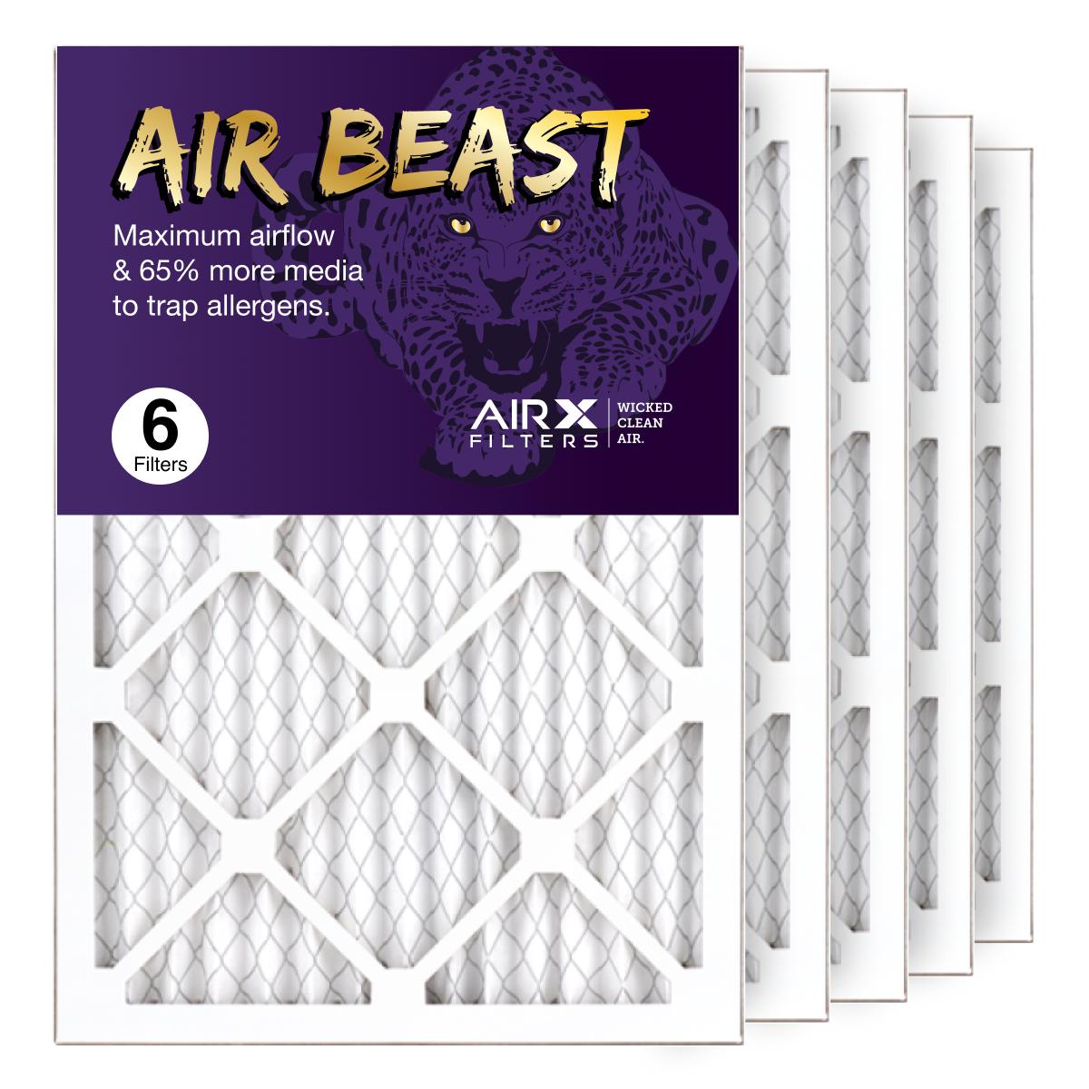 14x20x1 AIRx Air Beast High Flow Air Filter, 6-Pack
