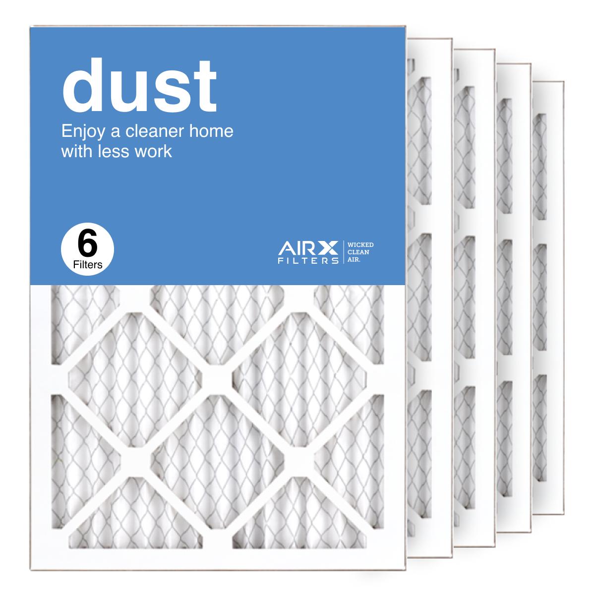 14x20x1 AIRx DUST Air Filter, 6-Pack