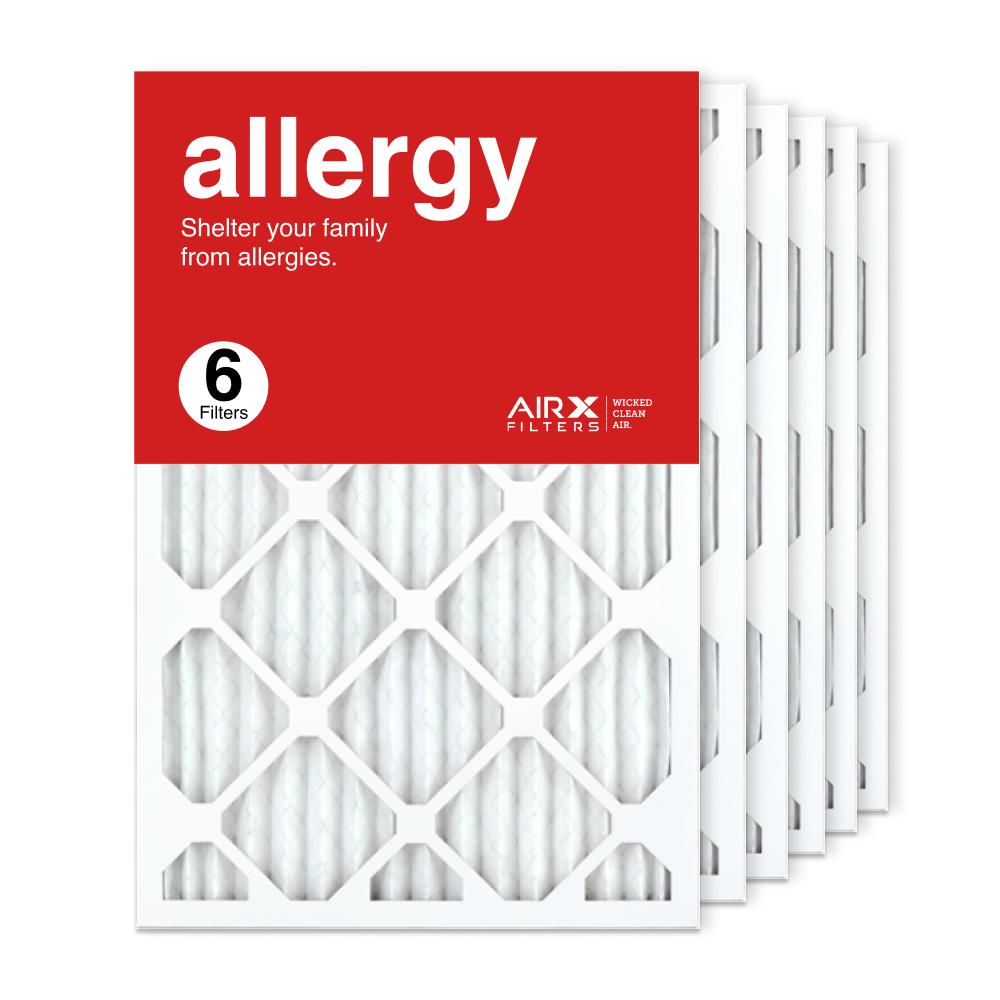 16x24x1 AIRx ALLERGY Air Filter, 6-Pack