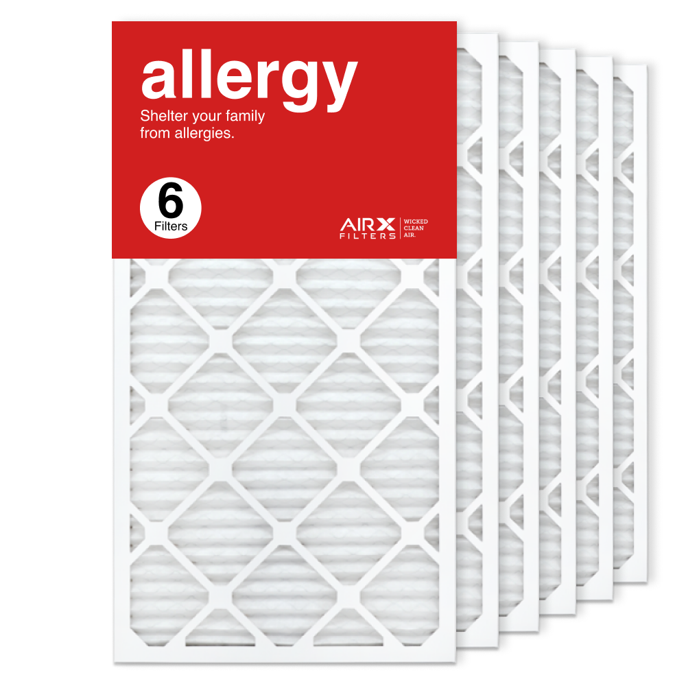 16x30x1 AIRx ALLERGY Air Filter, 6-Pack