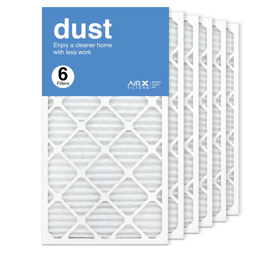 16x30x1 AIRx DUST Air Filter, 6-Pack