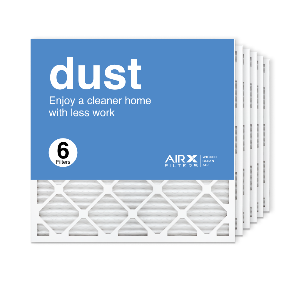 25x25x1 AIRx DUST Air Filter, 6-Pack