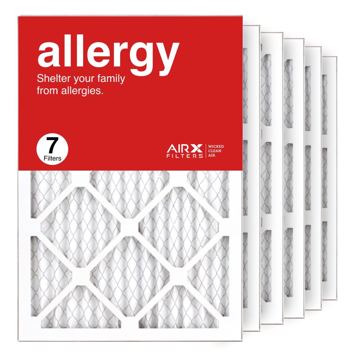 14x20x1 AIRx ALLERGY Air Filter, 7-Pack