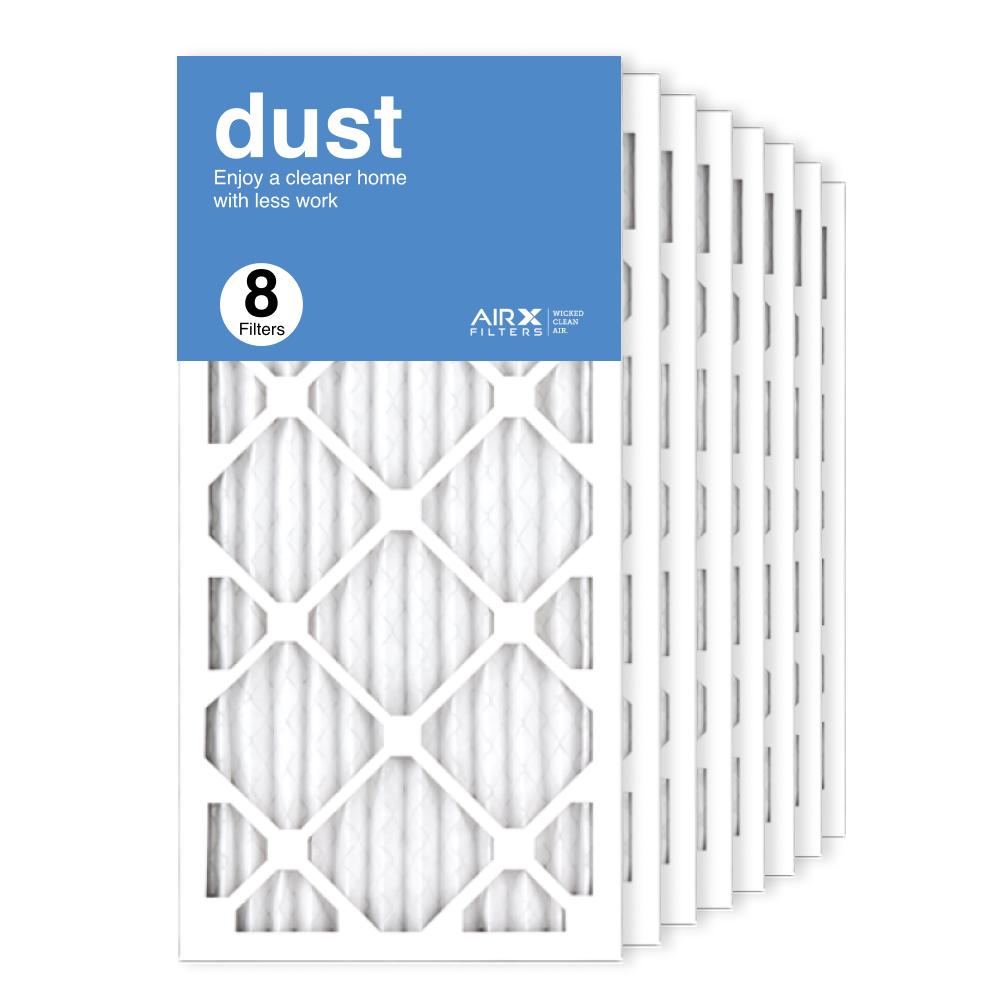 12x25x1 AIRx DUST Air Filter, 8-Pack