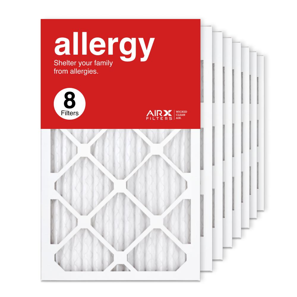 13x21.5x1 AIRx ALLERGY Air Filter, 8-Pack