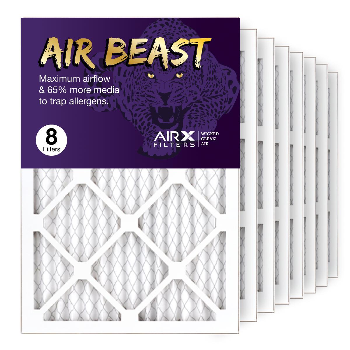 14x20x1 AIRx Air Beast High Flow Air Filter, 8-Pack