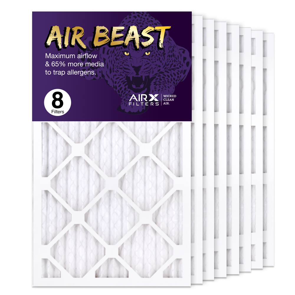 14x25x1 AIRx Air Beast High Flow Air Filter, 8-Pack