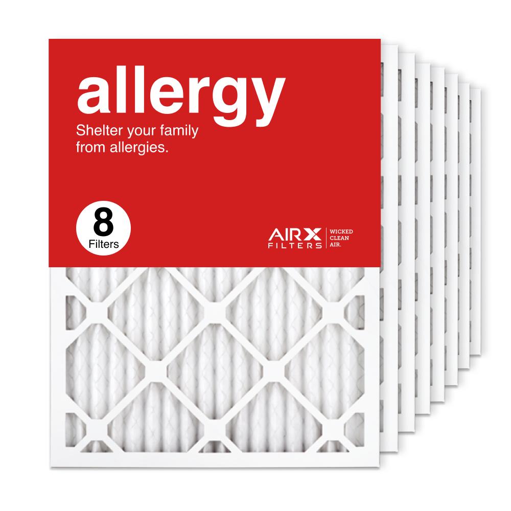 16.375x21.5x1 AIRx ALLERGY Air Filter, 8-Pack